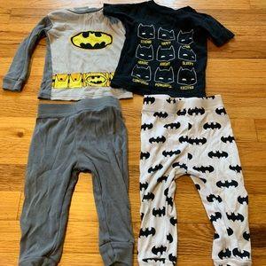 4 piece-2 set Batman PJs